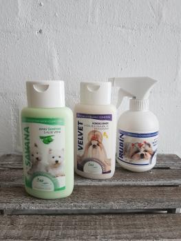 BEA natur Spar Set - Savana Shampoo 220ml, Velvet Conditioner 220ml und Rubin Kämmhilfe 250ml. Wert 33,85