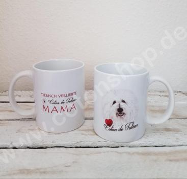 Kaffeebecher Coton de Tuléar - Tierisch verliebte Coton de Tulear Mama