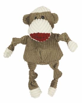 HuggleHounds Sock Monkey Knottie brown small
