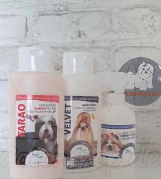 BEA natur Spar Set - Farao Shampoo mit Shea Butter 310ml, Velvet Conditioner 310ml und Rubin Kämmhilfe 250ml. Wert 37,85