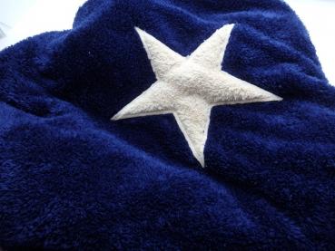 Hundedecke Welpendecke Plaid Pooch blau Stern creme - M